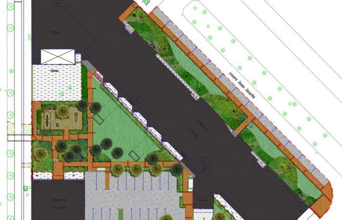 Plan des aménagements autour de la résidence